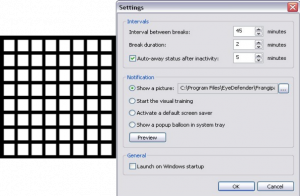 EyeDefender screenshot