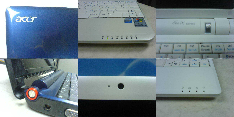 Acer Aspire One Msi Wind U100 Asus Eee PC