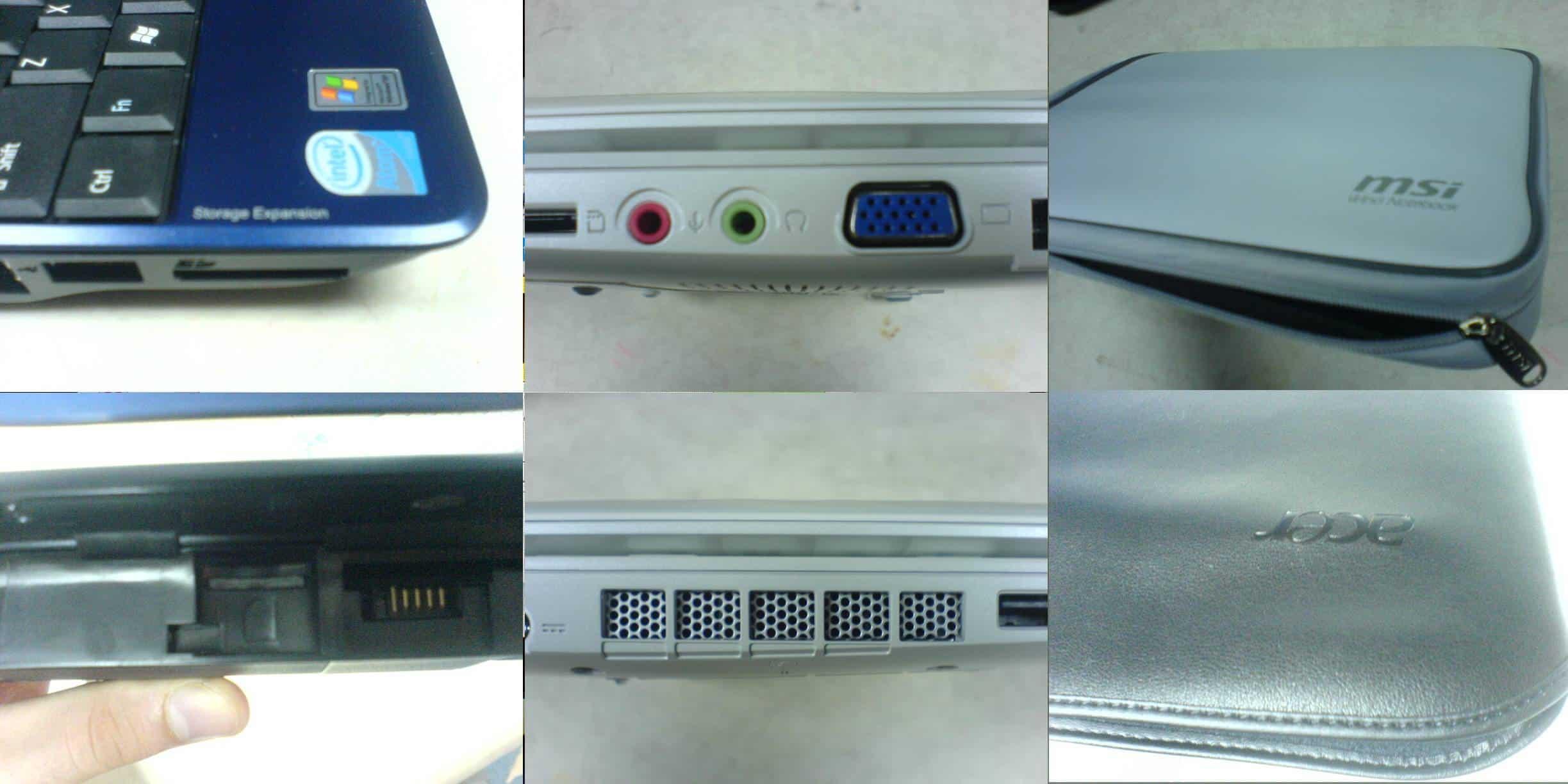 Acer Aspire One MSI Wind U100 Asus Eee PC Features