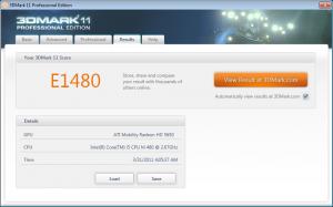Dell Inspiron N5010 3DMark11