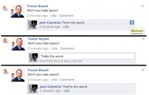 Editing Facebook Comments