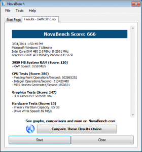 Dell Inspiron N5010 NovaBench