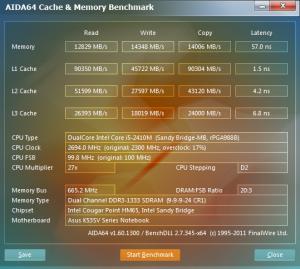 Asus K53SV AIDA64 Intel