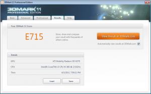 HP Probook 4520s 3DMark 11