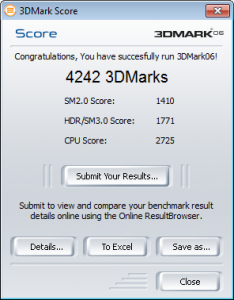 HP Probook 4520s 3DMark06