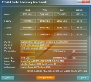 HP Probook 4520s cachemem