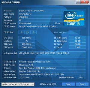 HP Probook 4520s cpuid