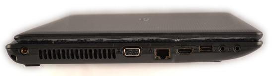 Acer Aspire 5742 Left