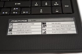 Acer Aspire 5742 Specification